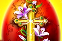 Happy Easter Holy Cross Stationery, Backgrounds