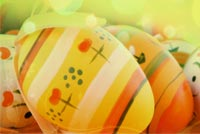 Happy Easter, Pretty Eggs Stationery, Backgrounds