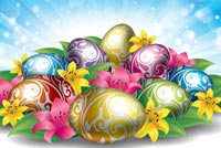 Easter Bright With Happiness Stationery, Backgrounds