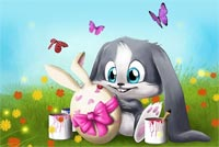 Easter Sweetheart Stationery, Backgrounds