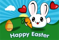 Happy Easter Bunny With Love Stationery, Backgrounds
