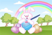 Easter Bunny Smile Stationery, Backgrounds