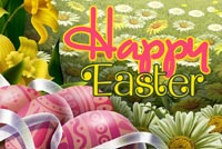Happy Spring Happy Easter Stationery, Backgrounds
