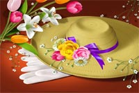 Special Hat Easter Wishes Stationery, Backgrounds