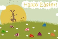Easter Bunny Hunts For Eggs Stationery, Backgrounds
