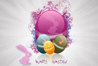 Easter email stationery. Happy Easter To You
