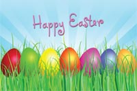 Happy Easter - Colorful Eggs Stationery, Backgrounds