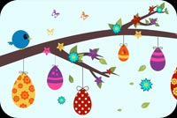 Easter email stationery. Easter Tree Eggs