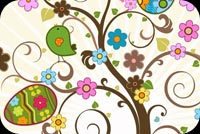 Floral Easter Wishes Stationery, Backgrounds