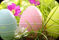 Easter Eggs-tra Wishes Stationery, Backgrounds