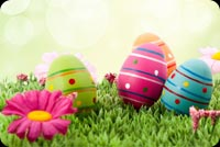God's Blessing & Good Wishes For Easter Stationery, Backgrounds