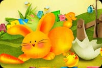 Happy Easter My Dear Friend Stationery, Backgrounds