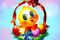 Easter Chick Greeting! Stationery, Backgrounds