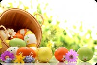 Special Easter Basket Just For You Stationery, Backgrounds