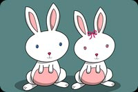 Couple Easter Bunnies Stationery, Backgrounds