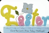 Easter email stationery. Christ The Lord Is Risen Today