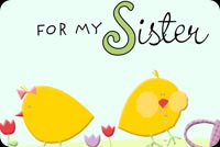 Easter Wishes For My Sister Stationery, Backgrounds