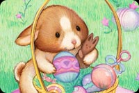 Sweet Bunny Easter Card Stationery, Backgrounds