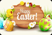 Happy Easter, Colorful Eggs, Flowers Stationery, Backgrounds
