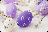 Happy Spring, Purple Eggs Stationery, Backgrounds
