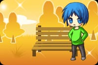 Red Haired Boy In A Park Stationery, Backgrounds