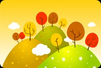 I Love Autumn! Stationery, Backgrounds