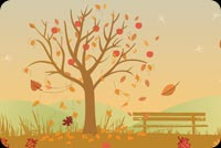 Autumn Missing You Stationery, Backgrounds