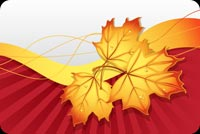Fall autumn email stationery. Wishing You A Happy Autumn