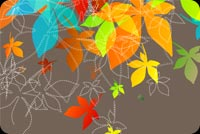 Fall autumn email stationery. Happy Colors Of Autumn