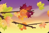 Fall autumn email stationery. Beautiful Autumn
