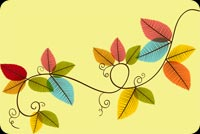 Fall autumn email stationery. Endless Happiness This Autumn!