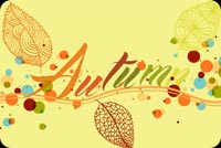 Fall autumn email stationery. Wish A Happy Autumn To You