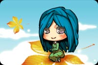 Smiling Girl And Flying Leaf Stationery, Backgrounds