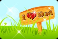 I Love Dad Signage Stationery, Backgrounds