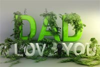 Dad, I Love You Stationery, Backgrounds