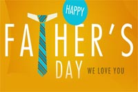 Fathers day email stationery. Dear Dad, We Love You