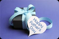 Purple Happy Father's Day Gift Box Stationery, Backgrounds