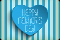 Blue Heart Happy Father's Day Stationery, Backgrounds