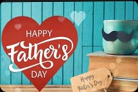 Father's Day Red Heart Coffee Cup & Books Stationery, Backgrounds