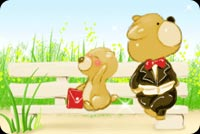 Daddy Bear And Baby Bear Stationery, Backgrounds