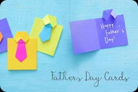 Father's Day Homemade Paper Card Stationery, Backgrounds
