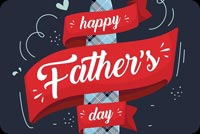Happy Father's Day Banner Stationery, Backgrounds