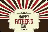 Red & Brown Father's Day Theme Stationery, Backgrounds