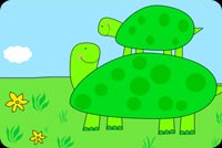 Daddy Turtle And Baby Turtle Stationery, Backgrounds