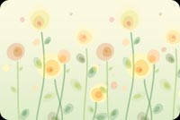 Long Stemmed Pastel Flowers Stationery, Backgrounds