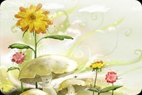 Flowers Proudly Facing The Sun Stationery, Backgrounds