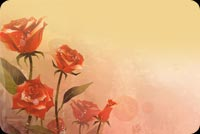 Romantic Red Roses At Bloom Stationery, Backgrounds