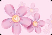 Pink Flowers Fading In The Background Stationery, Backgrounds