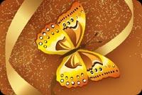 Art Butterfly & Flowers Stationery, Backgrounds