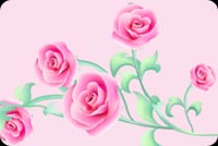 Flowers email stationery. 5 Pink Beautiful Roses
